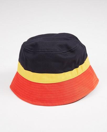 Heren hoedje in zwart, geel en rood
