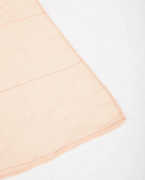 Breigoed - Oranjeroze sjaal met strepen Pieces