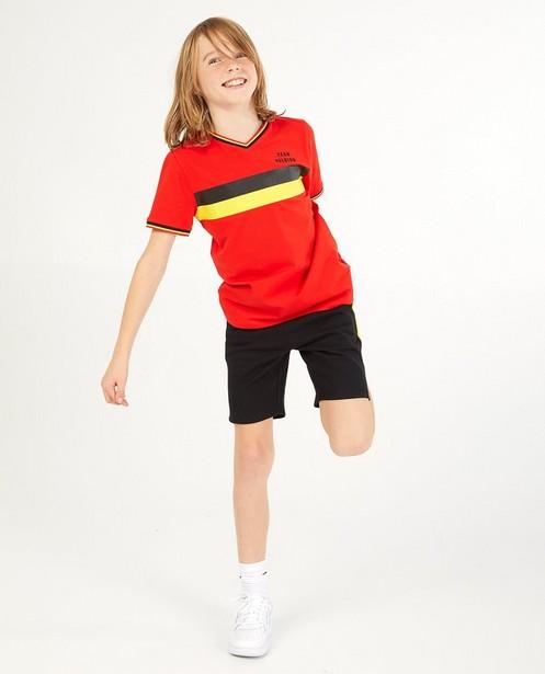 T-shirt rouge «Team Belgium», 7-14ans - #familystoriesjbc - Familystories
