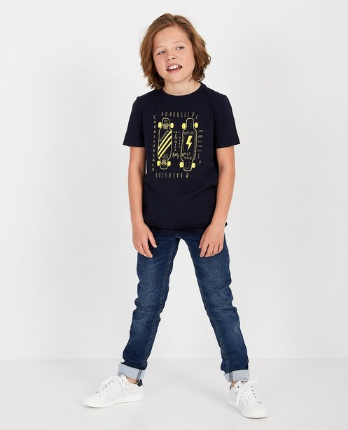 Jeans slim gris en sweat denim Simon, 7-14 ans - stretch - JBC