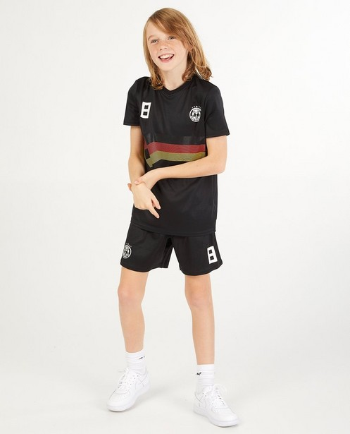 Zwarte voetbaltenue, 7-14 jaar - nr. 8 - JBC