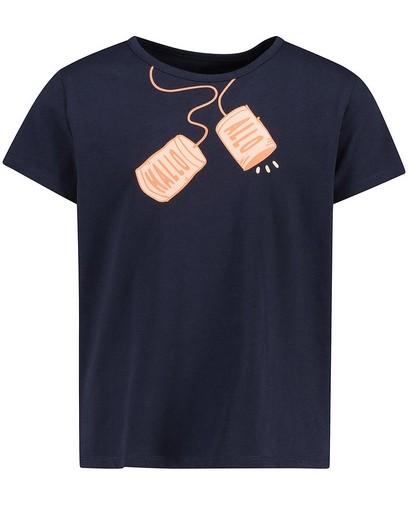 Blauw T-shirt met print BESTies