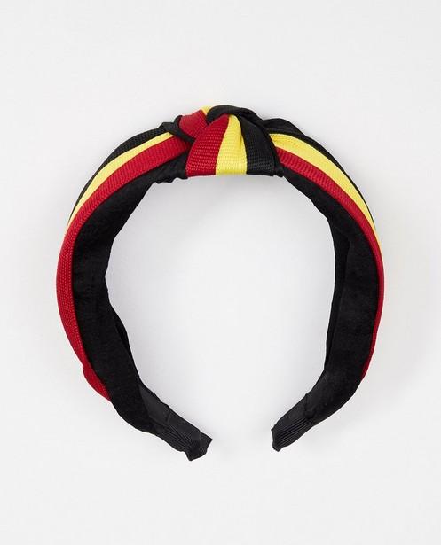 Dames haarband in zwart, geel en rood - driekleur - Familystories