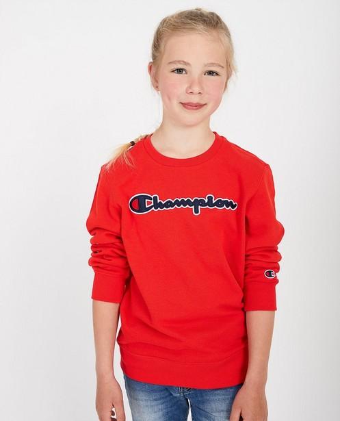 Sweat rouge Champion - à inscription - Champion