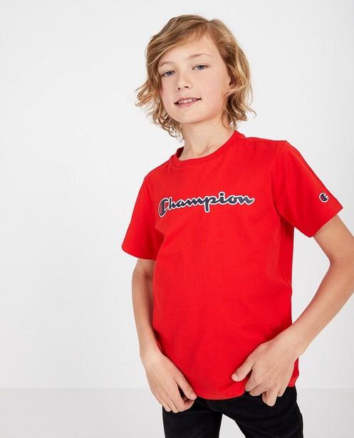 T-shirt rouge Champion - à inscription - Champion