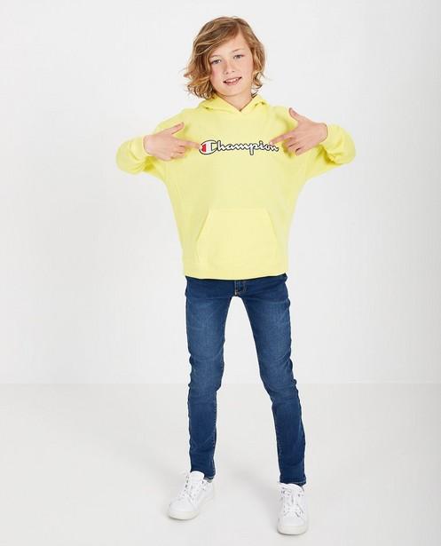 Gele hoodie Champion - met opschrift - Champion