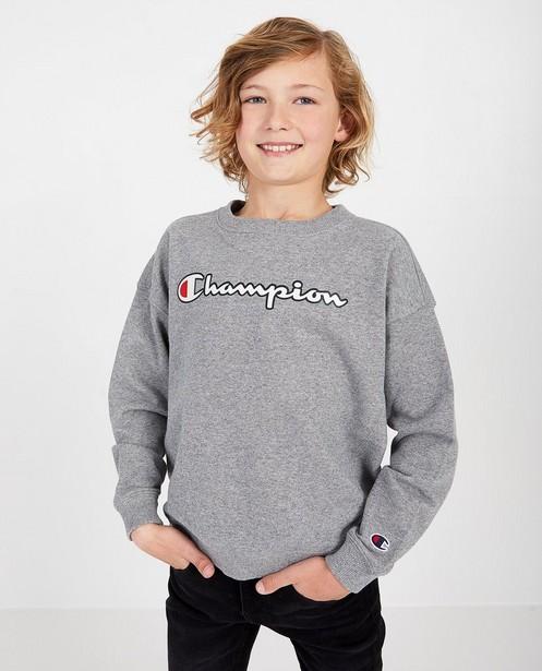 Grijze unisex sweater Champion - met opschrift - Champion
