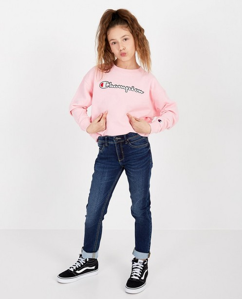 Roze sweater Champion - met opschrift - Champion