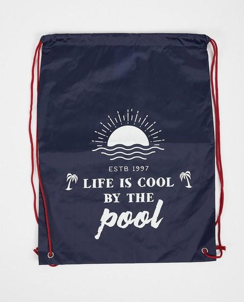 Sac de natation bleu avec imprimé - avec cordon de serrage sous tunnel - JBC