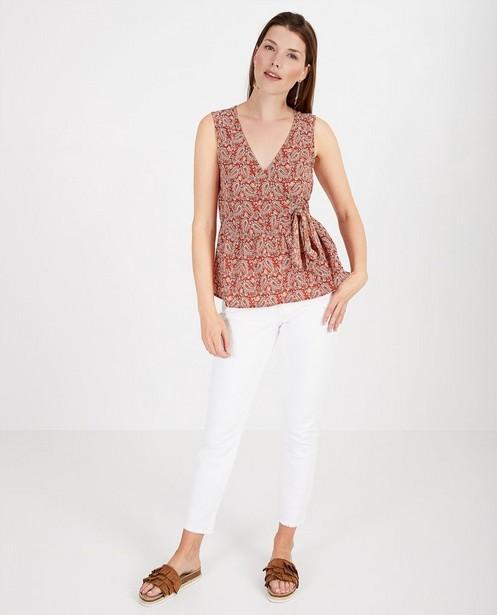Roestbruine blouse met print Sora - allover - Sora