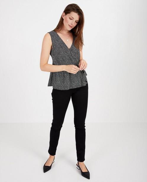 Zwarte blouse met print Sora - allover - Sora