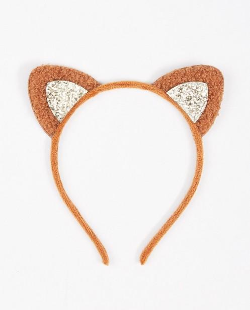 Diadème brun avec de petites oreilles BESTies - à paillettes - JBC