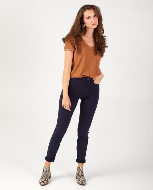 Donkerblauwe broek Sora - slim fit - stretch - JBC
