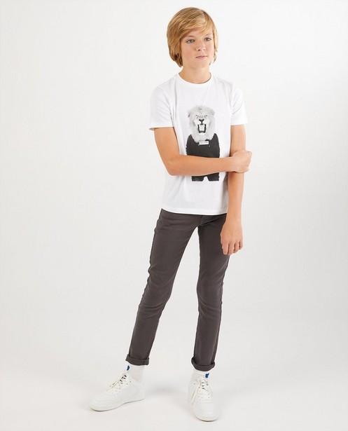 Skinny Joey en sweat denim, 7-14 ans - gris - Fish & Chips