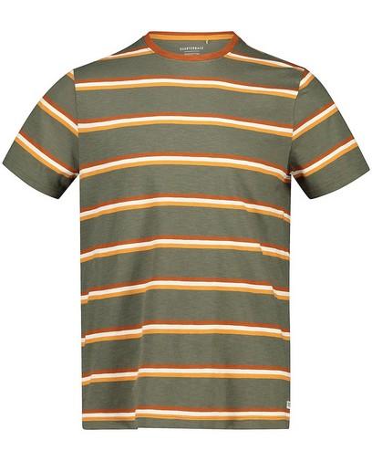 Kakigroen T-shirt van biokatoen