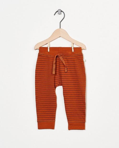 Pantalon molletonné rouille en coton bio - stretch - Cuddles and Smiles