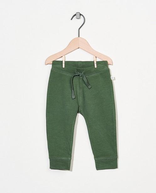 Groen sweatbroekje van biokatoen - stretch - Cuddles and Smiles