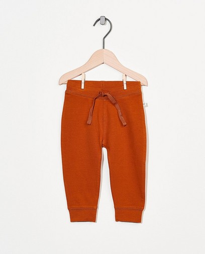 Pantalon molletonné rouille en coton bio