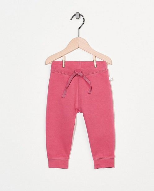 Roze sweatbroekje van biokatoen - stretch - Cuddles and Smiles