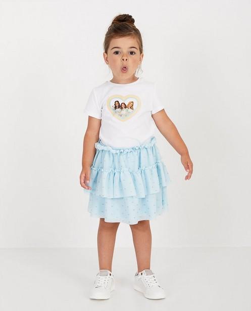 Lichtblauwe rok van tule K3 - met glitterprint - K3