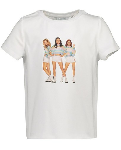 T-shirt blanc avec imprimé photoK3