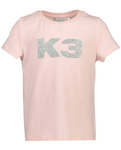 T-shirt rose à paillettes K3