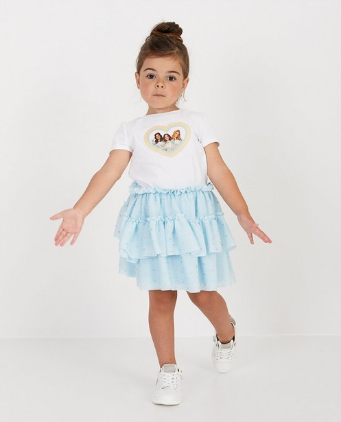 Wit T-shirt met fotoprint K3 - in hart - K3