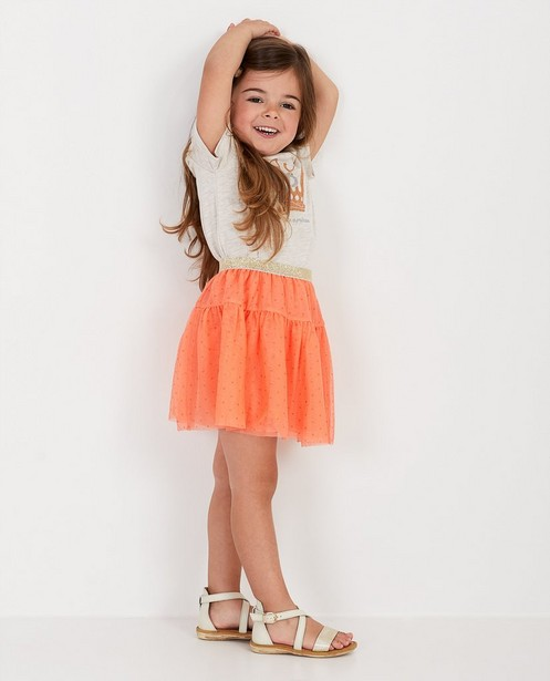 Oranje rok van tule Prinsessia - met glitter - Prinsessia