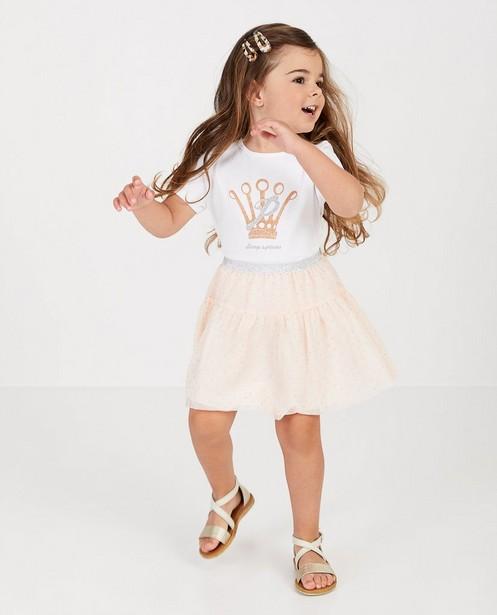 Roze rok van tule Prinsessia - met glitter - Prinsessia