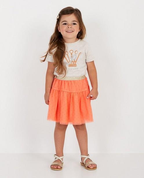 T-shirt met glitter Prinsessia - print - Prinsessia
