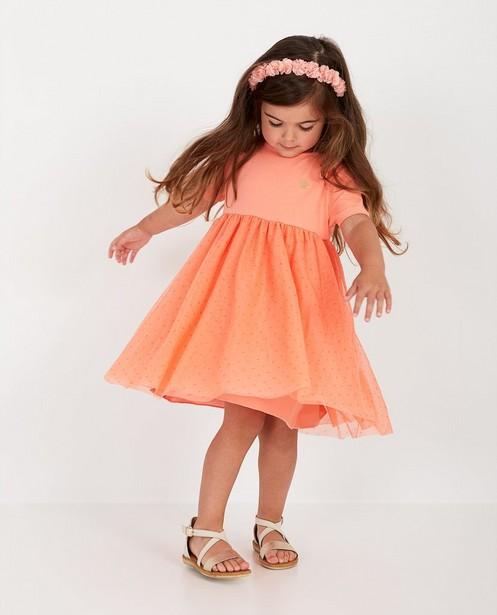 Oranje jurk met tule Prinsessia - met glitter - Prinsessia