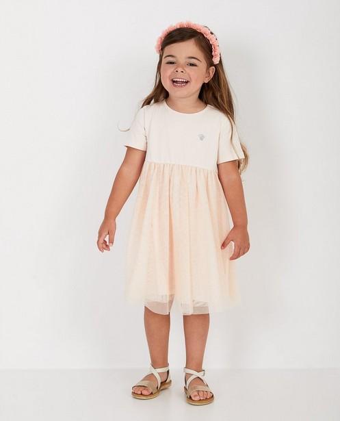 Roze jurk met tule Prinsessia - met glitter - Prinsessia