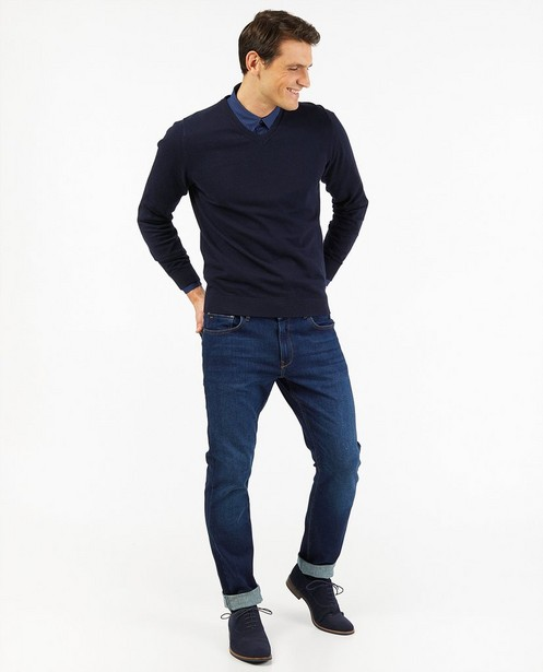 Donkerblauwe slim fit jeans Smith - stretch - JBC