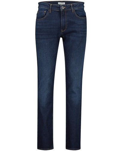 Donkerblauwe slim fit jeans Smith