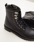 Schoenen - Zwarte enkellaars met studs