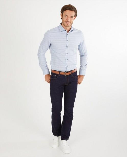 Chemise blanche à imprimé - slim fit - Iveo