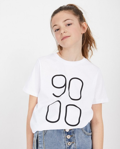 Wit unisex T-shirt Negenduust - met opschrift - Negenduust