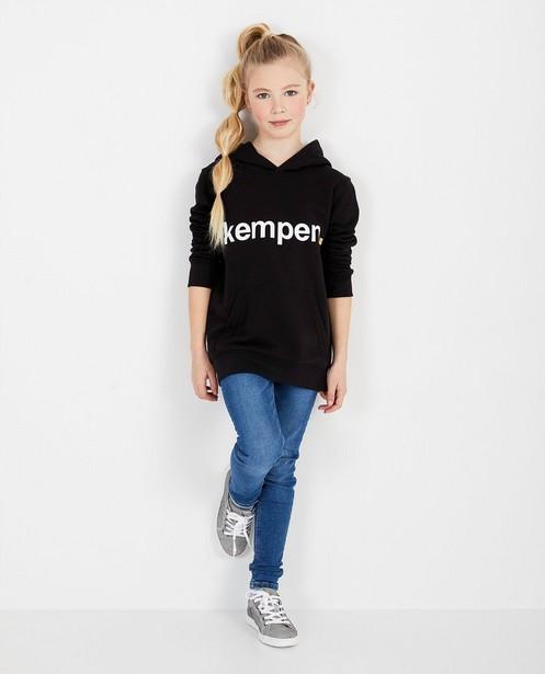 Zwarte unisex hoodie KEMPEN™ - met opschrift - Kempen