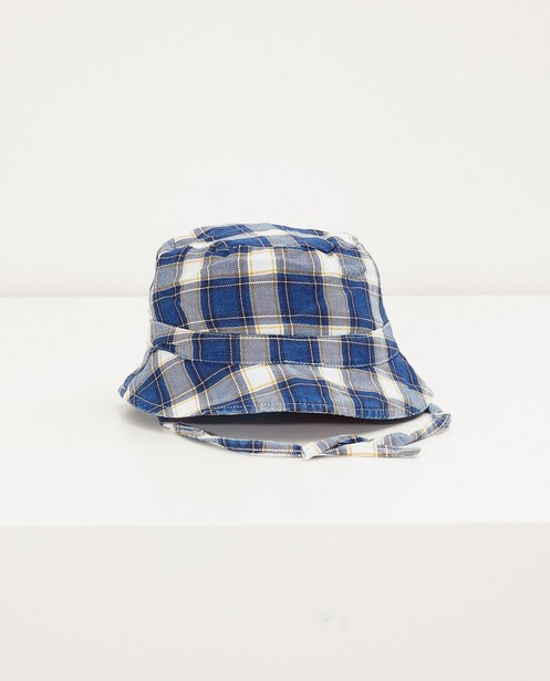 Chapeau bleu à carreaux - imprimé intégral - Cuddles and Smiles