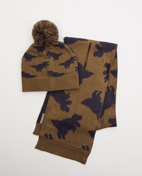 Set van sjaal en muts - dino - fijne brei - JBC