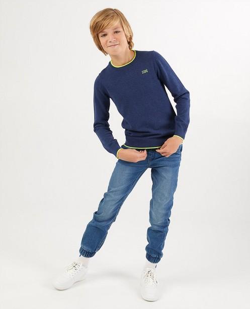 Jeans bleu clair en sweat denim - avec bord élastique - Fish & Chips