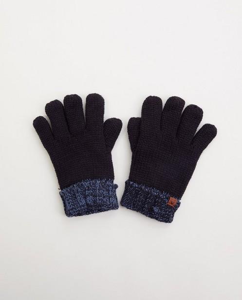 Donkerblauwe handschoenen - gebreid - JBC