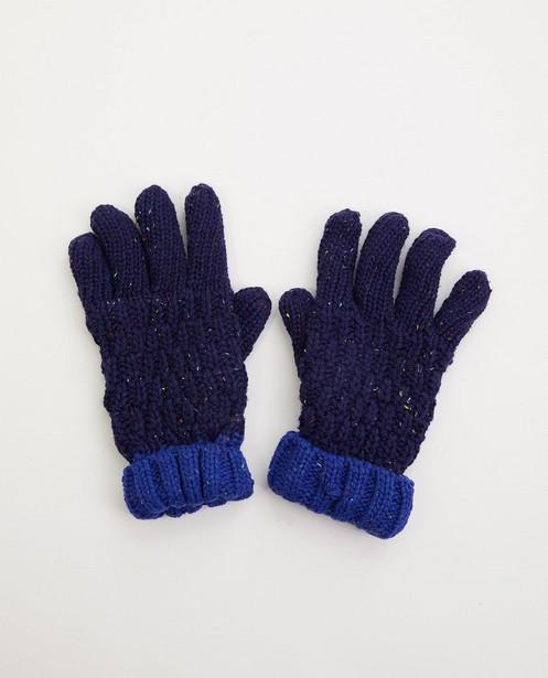 Blauwe handschoenen met kleur - met fleece - JBC