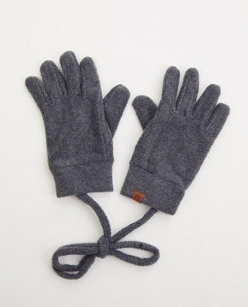 Zwarte handschoenen van fleece - met verbindingskoord - JBC