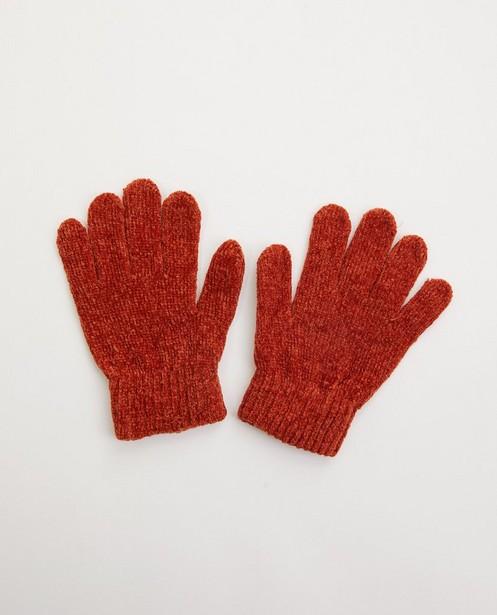 Bruinoranje handschoenen - gebreid - JBC
