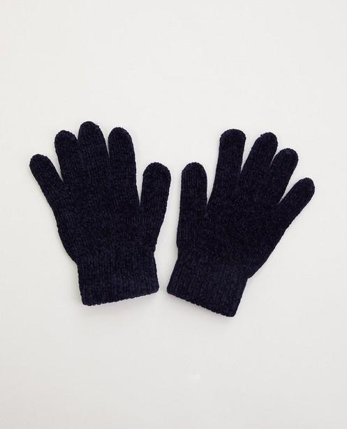 Blauwe handschoenen - gebreid - JBC