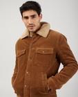 Teddys - Manteau brun en velours côtelé