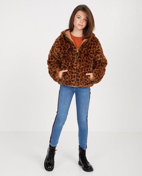 Bruine omkeerbare jas - met luipaardprint - JBC