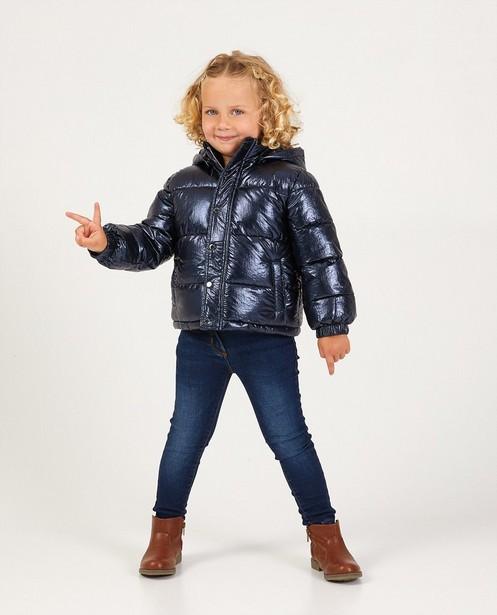 Blauwe jas van imitatiedons - met fleece - JBC