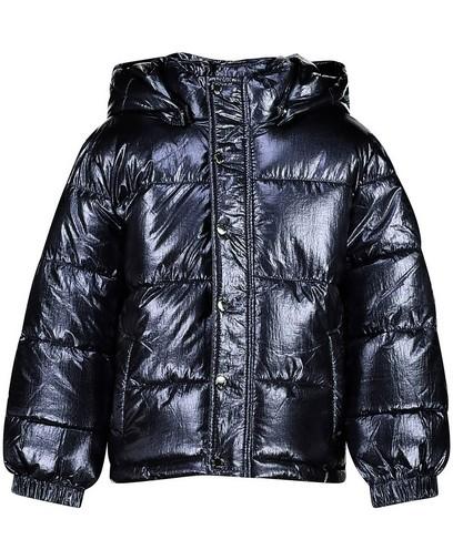 Manteau bleu en fausse fourrure